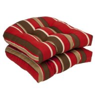 red and brown cushions